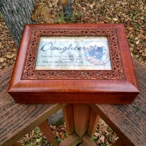 Cottage Garden Daughter Embossed Jewelry Music Box